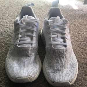 Adidas White and Grey NMD